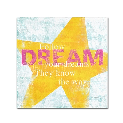 Trademark Sue Schlabach Letterpress Dream Gallery-Wrapped Canvas Art, 35 x 35