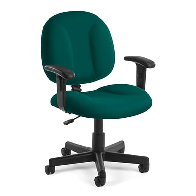 OFM Comfort 105-AA-802 Fabric Task Chair with Arms, Teal