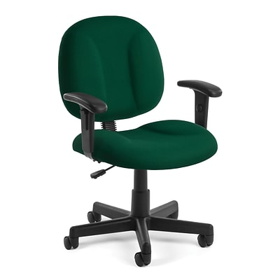 OFM Comfort 105-AA-807 Fabric Task Chair with Arms, Green