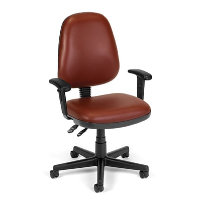 OFM Straton 119-VAM-AA-603 Fabric Task Chair with Arms, Wine