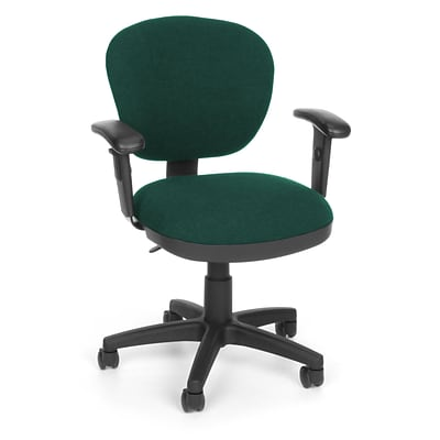 OFM Lite Use 150-AA-120 Fabric Computer Task Chair with Arms; Teal