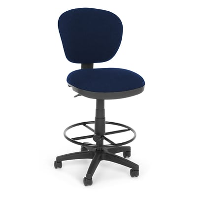 OFM Lite Use 150-DK-119 Fabric Computer Task Stool, Blue