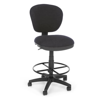 OFM Lite Use 150-DK-128 Fabric Computer Task Stool, Gray