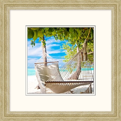 Hammock 2 Framed Art; 19 x 19