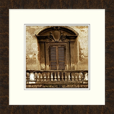 Italian Window 1 Framed Art; 19 x 19