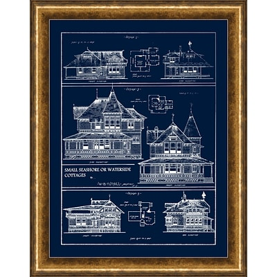 Queen Anne Cottages 2 Framed Art; 22 x 28