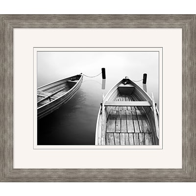Docked Boats 1 Framed Art; 28 x 24
