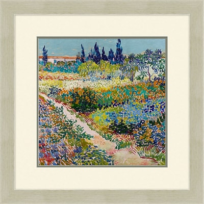 Garden of Montarre 1 Framed Art; 28 x 28
