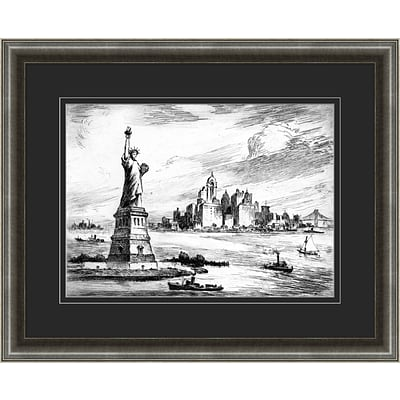 New York Etching 2 Framed Art; 32 x 26
