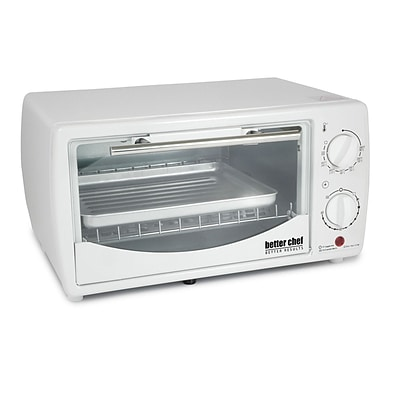 Better Chef® 9-Liter 4-Slice Toaster Oven Broiler, White