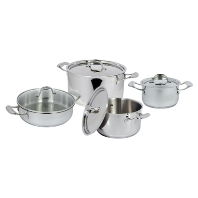 Better Chef(r) 8 Pc Stnls Steel Cookware Set