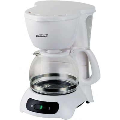 Brentwood® 650 W 4-Cup Coffee Maker; White