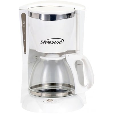 Brentwood® 900 W 12-Cup Coffee Maker; White