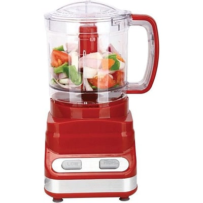 Brentwood® 200 W 3-Cup/24 Oz. Food Processor; Red