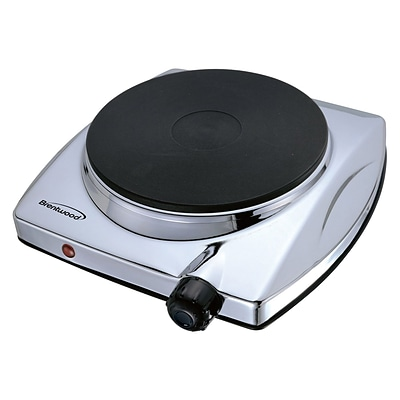 Brentwood® 1000 W Electric Single Hotplate; Chrome