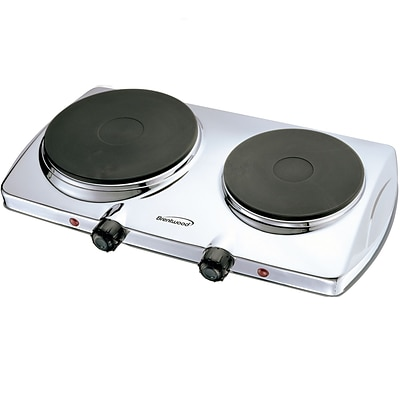 Brentwood® Electric 1440 W Double Hotplate; Chrome