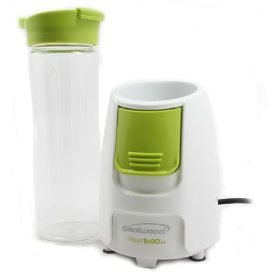 Brentwood® Blend-To-Go 300 W Personal Blender; White/Green