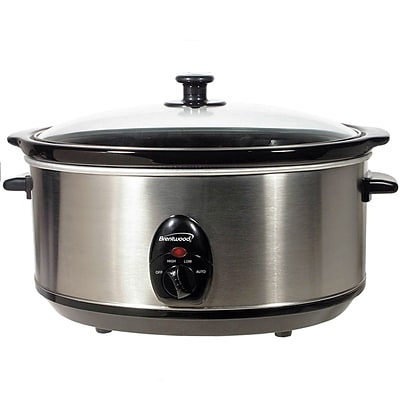 Brentwood® 6.5 qt. Stainless Steel Slow Cooker