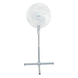 Impress® 16 Oscillating 3-Speed Stand Fan; White