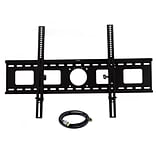 MegaMounts A1800USB Tilt Wall Mount With HDMI Cable For 42 - 65 TVs Upto 200 lbs.