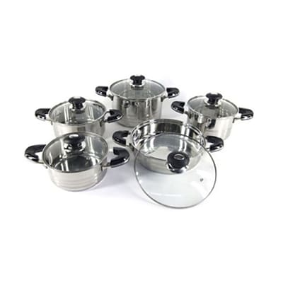 Super X Better Chef 10-Piece Capsulated Bottom Stainless Steel Cookware Set