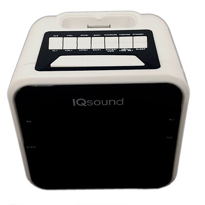 Supersonic® iq-1303 1.2 Display Alarm Clock/Radio For iPod and iPhone, White