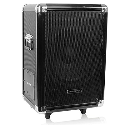 Technical Pro wasp12sub 1000 W 12 Portable Active PA Subwoofer W/ Speaker/Pull-Up Handle and Wheels