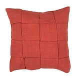 Jaipur TAB02 Tabby Pillow Cotton; Polyester & Viscose, Rust