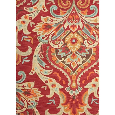 Jaipur Brocade Rectangle Rug Polyester, 3 x 2, Burgundy