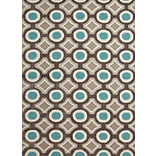 Jaipur Hand-Tufted Geometric Rectangle Rug Polyester 3 x 2, Deep Charcoal & Aegean Blue