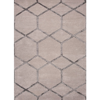 Jaipur Tufted Area Rug Wool & Art Silk, 8 x 5