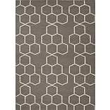 Jaipur Abdel Rectangle Area Rug Wool 5 x 8, Liquorice