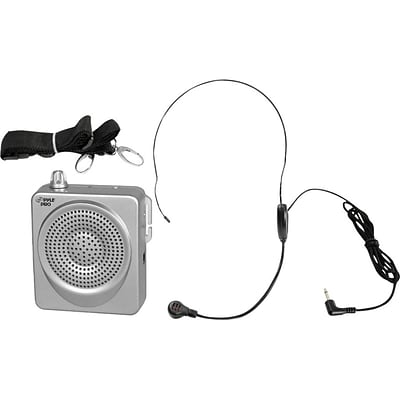 PYLE - PRO SOUND Portable Waist-Band Pa System With Headset Microphone; Silver