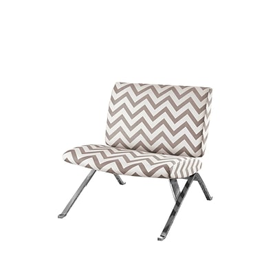 Monarch Specialties Inc. I 8137 Fabric Accent Chair, Dark Taupe