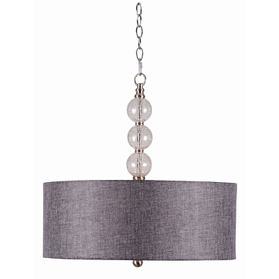 Kenroy Home Maya 93313BS 18.5 3-Light Pendant, Brushed Steel
