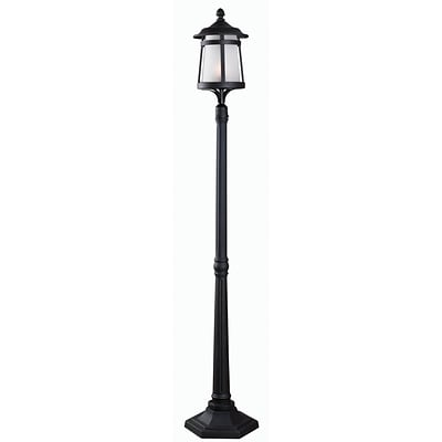 Kenroy Home Portable Post 93431BL 70 Lantern, Black