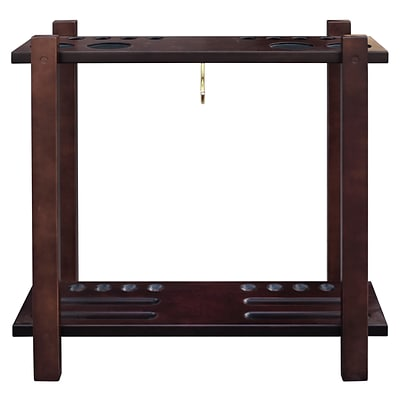 Hathaway BG2567M Classic Floor Billiard Pool Cue Rack, Rich Mahogany