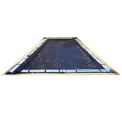 Arctic Armor BWC556 Black Rectangular In Ground 4 Year Leaf Net Pool Cover, 20 x 28