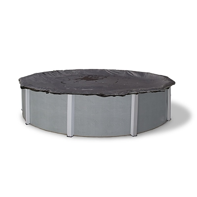 Arctic Armor BWC612 Black Round Above-Ground 8 Year Winter Pool Cover, 34