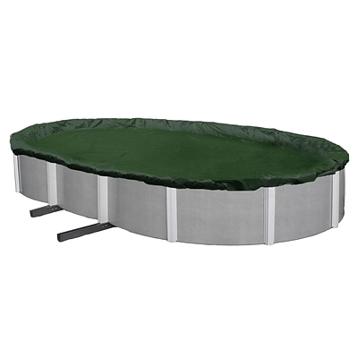 Arctic Armor BWC820 Green Oval Above-Ground 12 Year Winter Pool Cover, 19 x 34