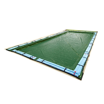 Arctic Armor BWC838 Green Rectangular In Ground 12 Year Winter Pool Cover, 16 x 24