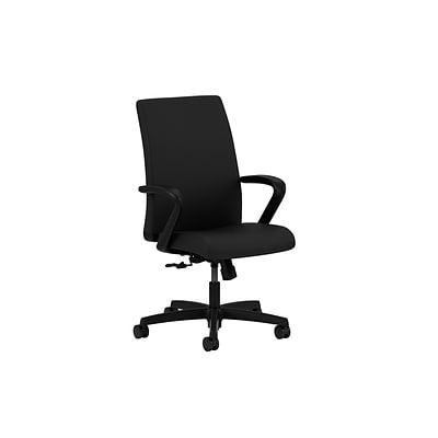 HON® Ignition® Mid-Back Office/Computer Chair, Fixed Arms, Centurion Black
