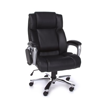 OFM ORO Series Leather Big and Tall Executive Conference Chair, Black