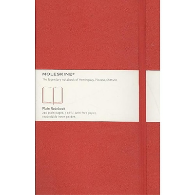 Moleskine Classic Plain Notebook Large, Red