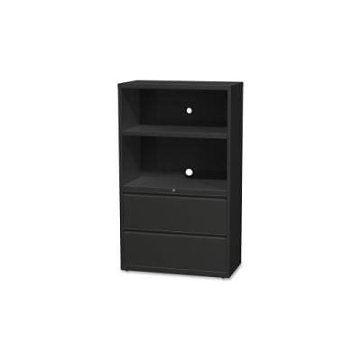 Lorell 36 Lateral Hanging File Drawers Combo Unit; Black