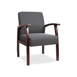 Lorell Deluxe Guest Chair, Charcoal (Or Charcoal Gray), 24 x 25 x 35.5