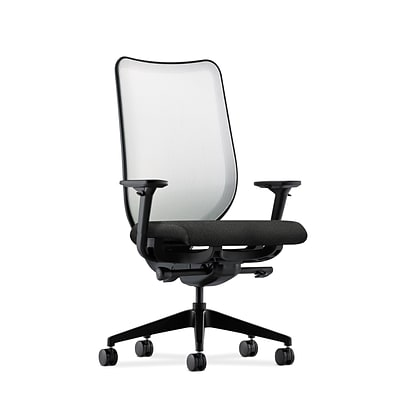HON® Nucleus® Knit Mesh Back Office/Computer Chair, Adjustable Arms, Confetti Black Fabric