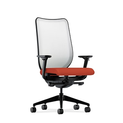 HON® Nucleus® Knit Mesh Back Office/Computer Chair, Adjustable Arms, Centurion Poppy Fabric