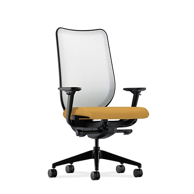 HON® Nucleus® Knit Mesh Back Office/Computer Chair, Adjustable Arms, Inertia Mustard Fabric
