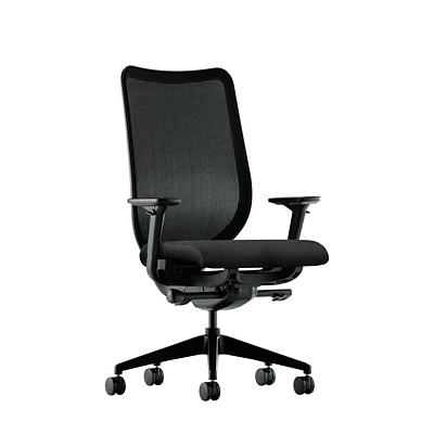 HON® Nucleus® Knit Mesh Back Office/Computer Chair, Adjustable Arms, Synchro-Tilt, Confetti Black